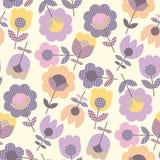Γεωμετρικό διακοσμητικό σχέδιο λουλουδιών Στοκ φωτογραφία με δικαίωμα ελεύθερης χρήσης