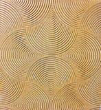 Γεωμετρικό διαμορφωμένο κεραμικό κεραμίδι Στοκ εικόνα με δικαίωμα ελεύθερης χρήσης