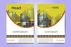 Γεωμετρικό διανυσματικό σχέδιο δομών απεικόνισης φυλλάδιων Στοκ Εικόνες
