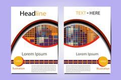 Γεωμετρικό διανυσματικό σχέδιο δομών απεικόνισης φυλλάδιων Στοκ εικόνα με δικαίωμα ελεύθερης χρήσης