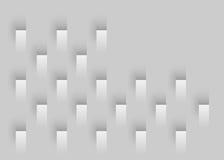 γεωμετρικό λευκό ανασκό& Στοκ φωτογραφία με δικαίωμα ελεύθερης χρήσης