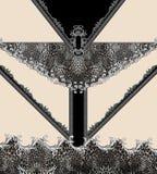Γεωμετρικό ζωικό μαύρο barroque τυπωμένων υλών στοκ φωτογραφίες