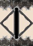 Γεωμετρικό ζωικό μαύρο barroque τυπωμένων υλών στοκ εικόνες