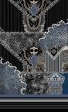 Γεωμετρικό ζωικό μαύρο barroque τυπωμένων υλών στοκ εικόνα