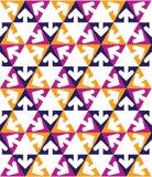 Γεωμετρικό δημιουργικό συνεχές πολύχρωμο σχέδιο Στοκ Εικόνες