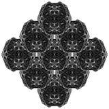 Γεωμετρικό διάνυσμα απεικόνισης δομών γραμμών καλωδίων Στοκ Φωτογραφίες