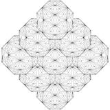 Γεωμετρικό διάνυσμα απεικόνισης δομών γραμμών καλωδίων Στοκ εικόνες με δικαίωμα ελεύθερης χρήσης