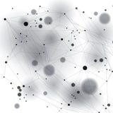 Γεωμετρικό διανυσματικό αφηρημένο τρισδιάστατο περίπλοκο op σκηνικό τέχνης, απεικόνιση τεχνολογίας, Στοκ Φωτογραφίες