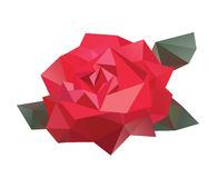 Γεωμετρικό διανυσματικό λουλούδι Στοκ Φωτογραφίες