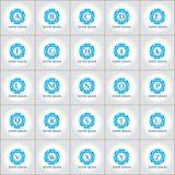 Γεωμετρικό διανυσματικό σύνολο προτύπων λογότυπων Στοκ φωτογραφία με δικαίωμα ελεύθερης χρήσης