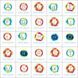 Γεωμετρικό διανυσματικό σύνολο προτύπων στοιχείων λογότυπων Στοκ εικόνα με δικαίωμα ελεύθερης χρήσης