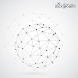 Γεωμετρικό δικτυωτό πλέγμα, τα μόρια στον κύκλο ελεύθερη απεικόνιση δικαιώματος