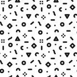 Γεωμετρικό καθιερώνον τη μόδα άνευ ραφής σχέδιο στο αναδρομικό ύφος της Μέμφιδας, η δεκαετία του '80 μόδας - η δεκαετία του '90 Στοκ Εικόνες
