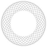 Γεωμετρικό κυκλικό πρότυπο Αφηρημένο μοτίβο με την ακτινοβολία των inters Στοκ Φωτογραφία