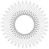 Γεωμετρικό κυκλικό πρότυπο Αφηρημένο μοτίβο με την ακτινοβολία των inters Στοκ Εικόνες