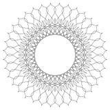 Γεωμετρικό κυκλικό πρότυπο Αφηρημένο μοτίβο με την ακτινοβολία των inters Στοκ Φωτογραφίες