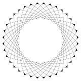 Γεωμετρικό κυκλικό πρότυπο Αφηρημένο μοτίβο με την ακτινοβολία των inters Στοκ Εικόνα