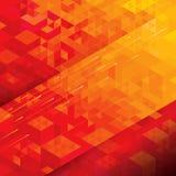 γεωμετρικό κόκκινο ανασ&k Στοκ Εικόνα
