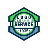 Γεωμετρικό λογότυπο για την καθαρίζοντας αντιπροσωπεία σπιτιών και γραφείων Υπηρεσίες εξαιρετικής ποιότητας Το εικονίδιο ύφους γρ Στοκ φωτογραφία με δικαίωμα ελεύθερης χρήσης