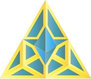 Γεωμετρικό λογότυπο - ψηφιακή απεικόνιση Στοκ φωτογραφίες με δικαίωμα ελεύθερης χρήσης