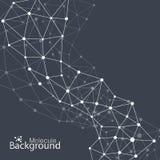 Γεωμετρικό μαύρο μόριο υποβάθρου και διανυσματική απεικόνιση