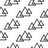 Γεωμετρικό μονοχρωματικό υπόβαθρο μαύρο άνευ ραφής λευκό προ διανυσματική απεικόνιση