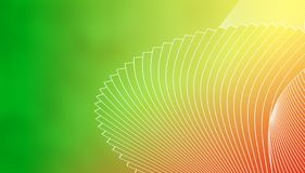 Γεωμετρικό μοντέρνο υπόβαθρο των άσπρων γραμμών σε ένα πράσινο πράσινο, κίτρινο, κόκκινο και πορτοκαλί υπόβαθρο Στοκ Εικόνες
