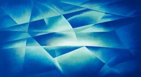 Γεωμετρικό μπλε φως μορφών διανυσματική απεικόνιση