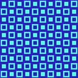 Γεωμετρικό μπλε σχέδιο άνευ ραφής Στοκ Φωτογραφία