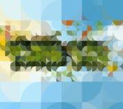 Γεωμετρικό μωσαϊκό των φυσικών χρωμάτων Στοκ Φωτογραφία