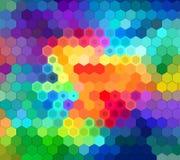 Γεωμετρικό μωσαϊκό των φυσικών χρωμάτων Στοκ φωτογραφία με δικαίωμα ελεύθερης χρήσης