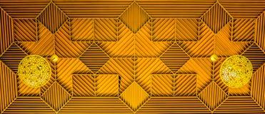 Γεωμετρικό ξύλινο ανώτατο όριο στοκ εικόνα