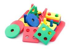 γεωμετρικό παιχνίδι παιδ&iot Στοκ Εικόνες