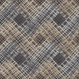 γεωμετρικό πρότυπο άνευ ραφής Καφετί πάτωμα με την ξύλινη σύσταση ασιατικό χαλί διανυσματική απεικόνιση