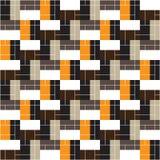 γεωμετρικό πρότυπο άνευ ραφής Χρωματισμένα ορθογώνια διάνυσμα Στοκ Εικόνες