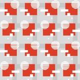 Γεωμετρικό πρότυπο με τα τετράγωνα Στοκ φωτογραφία με δικαίωμα ελεύθερης χρήσης