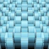 Γεωμετρικό πρότυπο προοπτικής Στοκ Φωτογραφία