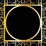Γεωμετρικό πλαίσιο deco τέχνης (ύφος της δεκαετίας του '20), διανυσματική απεικόνιση Στοκ Φωτογραφία