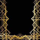 Γεωμετρικό πλαίσιο deco τέχνης Στοκ εικόνες με δικαίωμα ελεύθερης χρήσης