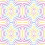 Γεωμετρικό ριγωτό άνευ ραφής υπόβαθρο, χρώματα φάσματος ουράνιων τόξων κρητιδογραφιών απεικόνιση αποθεμάτων