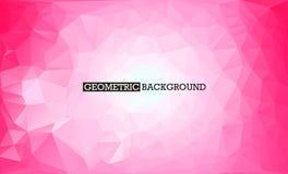 γεωμετρικό ροζ ανασκόπη&sigma Χαμηλό πολυ αφηρημένο διανυσματικό υπόβαθρο Στοκ Εικόνες