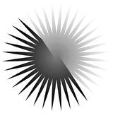Γεωμετρικό στοιχείο κύκλων των ακτινωτών γραμμών Συγχώνευση γραμμών έκρηξης Στοκ Εικόνα
