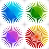 Γεωμετρικό στοιχείο κύκλων των ακτινωτών γραμμών Συγχώνευση γραμμών έκρηξης Στοκ φωτογραφία με δικαίωμα ελεύθερης χρήσης