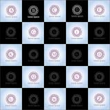 Γεωμετρικό συρμένο χέρι διανυσματικό σύνολο προτύπων λογότυπων Στοκ φωτογραφίες με δικαίωμα ελεύθερης χρήσης