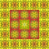 Γεωμετρικό σχέδιο από τα σχέδια των θερινών λουλουδιών Στοκ εικόνα με δικαίωμα ελεύθερης χρήσης