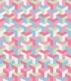 Γεωμετρικό σχέδιο με τις ρόδινες και μπλε μορφές Στοκ εικόνα με δικαίωμα ελεύθερης χρήσης