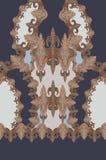 Γεωμετρικό σχέδιο μπλε τυπωμένων υλών χρωμάτων στοκ φωτογραφία με δικαίωμα ελεύθερης χρήσης