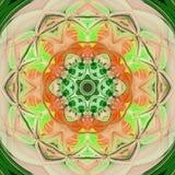 Γεωμετρικό σχέδιο μωσαϊκών κεραμιδιών στο πορτοκάλι και πράσινος Στοκ εικόνα με δικαίωμα ελεύθερης χρήσης