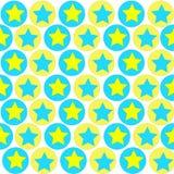 Γεωμετρικό σχέδιο των κύκλων και των αστεριών στοκ φωτογραφία με δικαίωμα ελεύθερης χρήσης