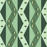 Γεωμετρικό σχέδιο των τριγώνων, του ρόμβου και των τετραγώνων στις σκιές πράσινου διανυσματική απεικόνιση
